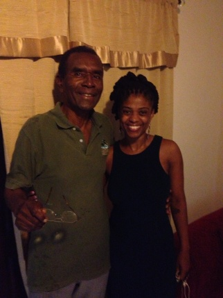 Me with Mr. Cadogan, my favorite teacher from secondary school.
