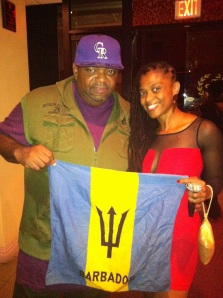 With Biggie Irie of Barbados.