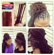Spring 2013: My stylist used pipe cleaners to create a tighter curl.