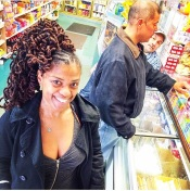 May 2014: I took the coils out from the previous hairdo and the guys at my local bodega loved it and snapped this photo as I was leaving the store.