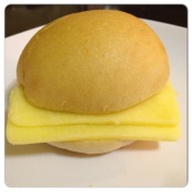 Bajan cheese cutter on freshly baked homemade Bajan salt bread with Anchor New Zealand Cheddar Cheese.