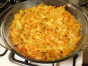 My homemade Bajan macaroni pie fresh out the oven.