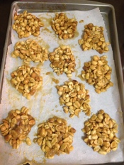 My homemade Vincy-style nut cakes aka peanut brittle.