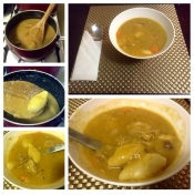 My home-cooked Bajan soup.