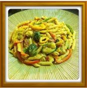 My home-cooked Rasta Pasta.